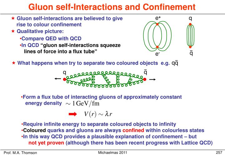 Gluon self-interactions are believed to give