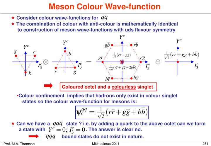 Meson Colour Wave-function