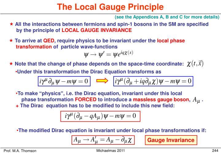The Local Gauge Principle