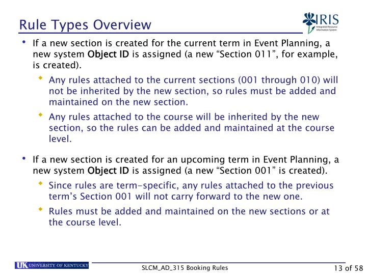 Rule Types Overview