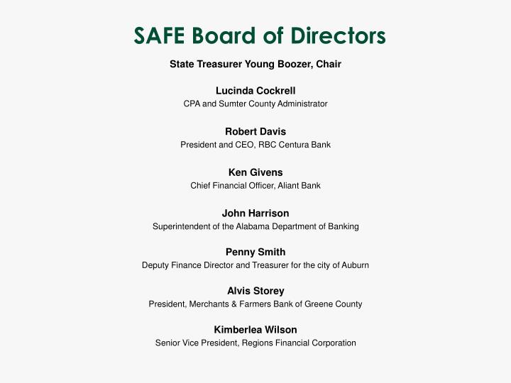 SAFE Board of Directors