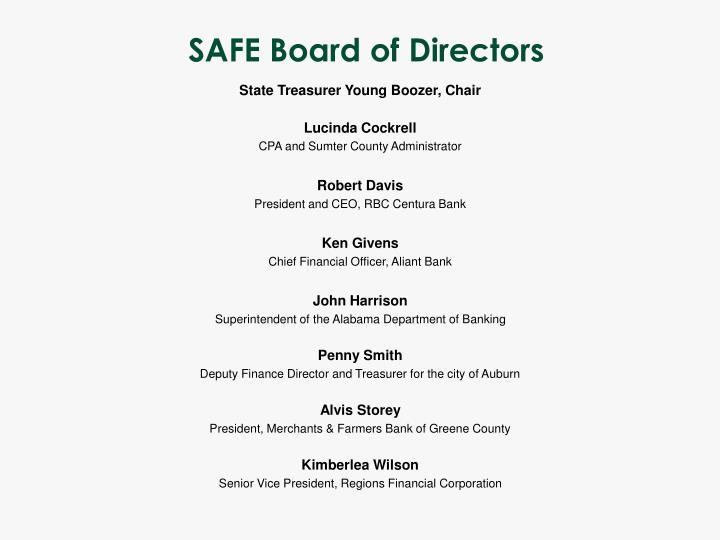 SAFE Board of Directors