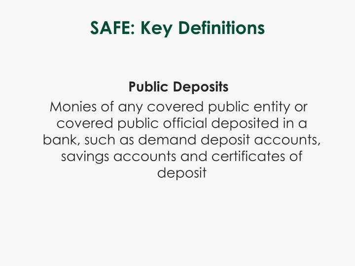 SAFE: Key Definitions