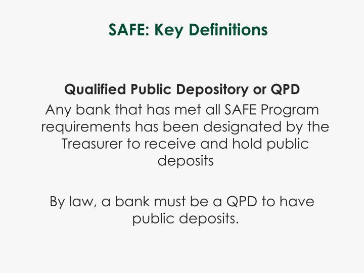 SAFE: Key Definitions