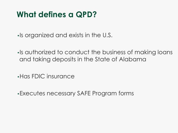 What defines a QPD?