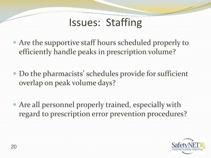 Issues:  Staffing