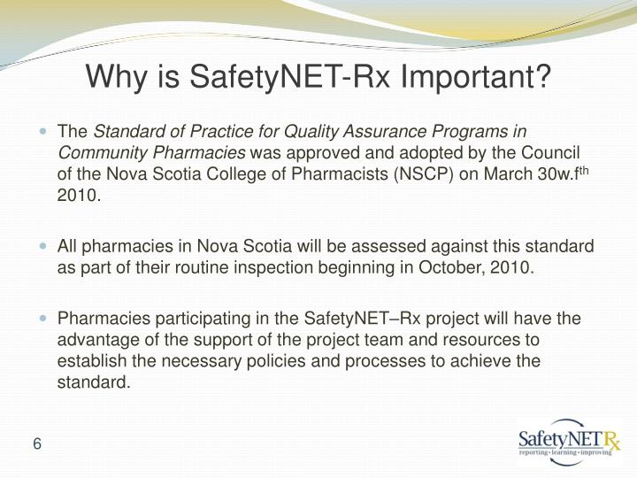 Why is SafetyNET-Rx Important?
