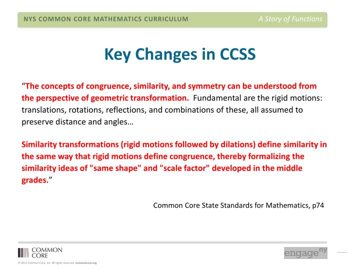 Key Changes in CCSS