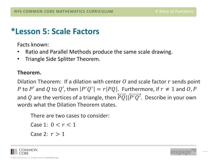 *Lesson 5: Scale Factors