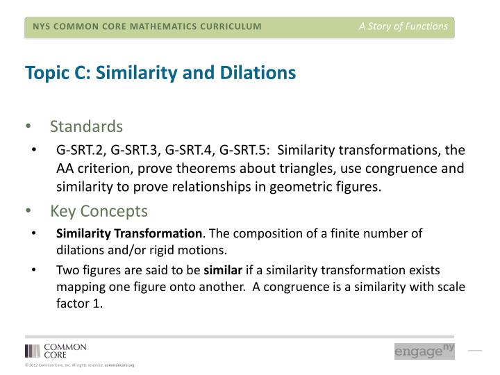 Topic C: Similarity and Dilations