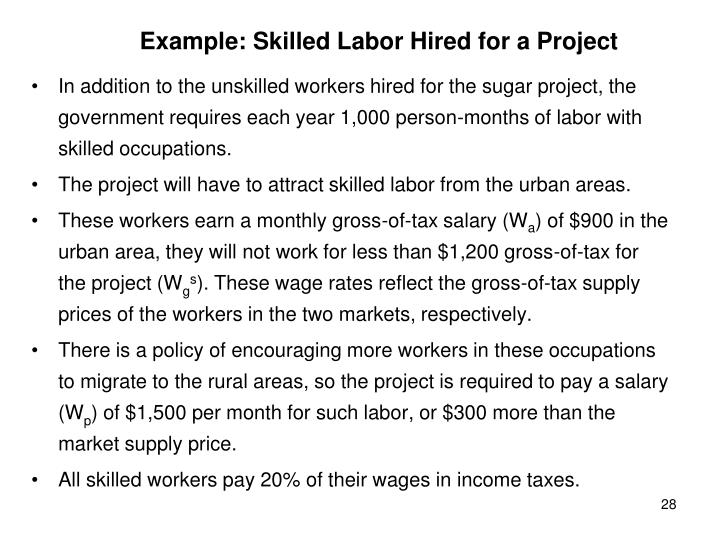Example: Skilled Labor Hired for a Project