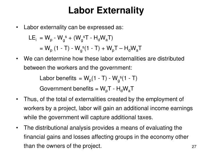 Labor Externality