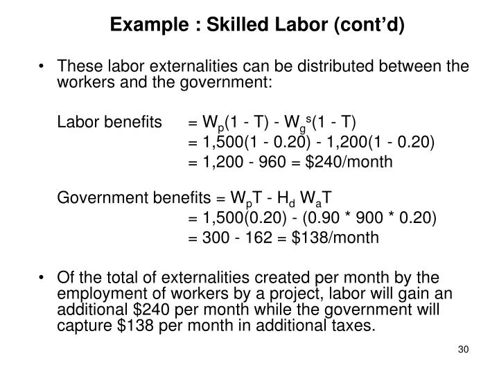 Example : Skilled Labor (cont