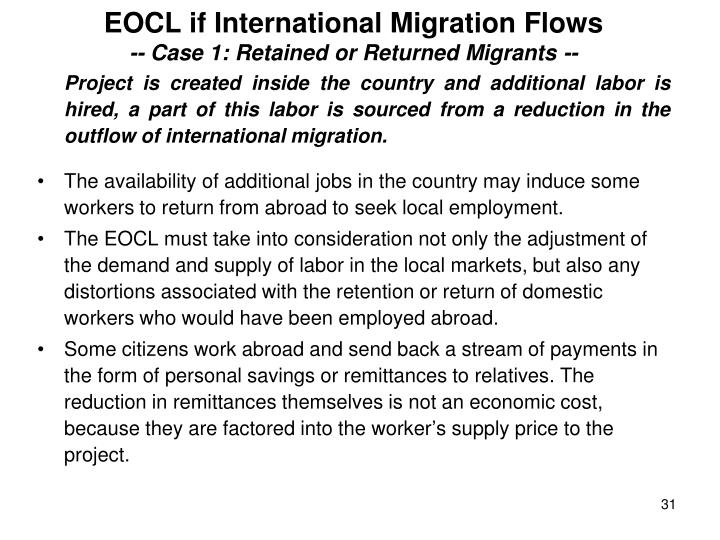 EOCL if International Migration Flows