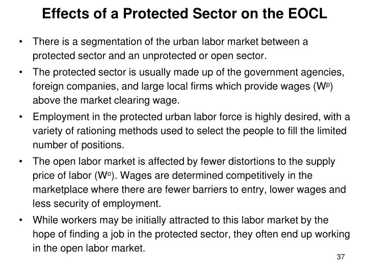 Effects of a Protected Sector on the EOCL