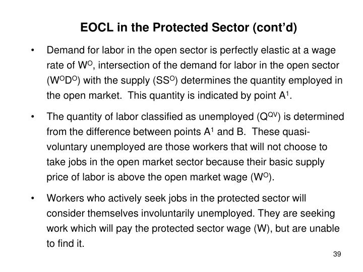 EOCL in the Protected Sector (cont