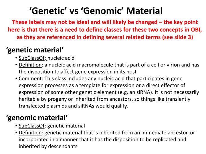 'Genetic'