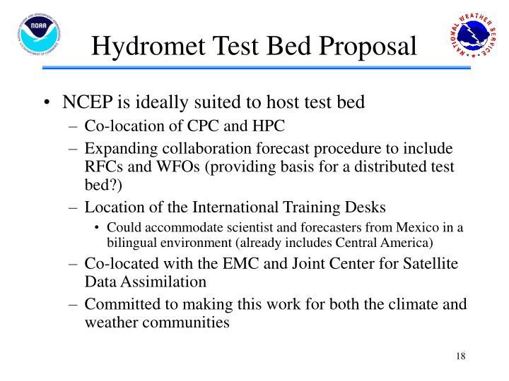 Hydromet Test Bed Proposal