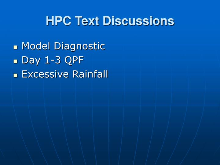 HPC Text Discussions