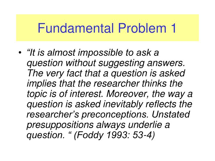 Fundamental Problem 1