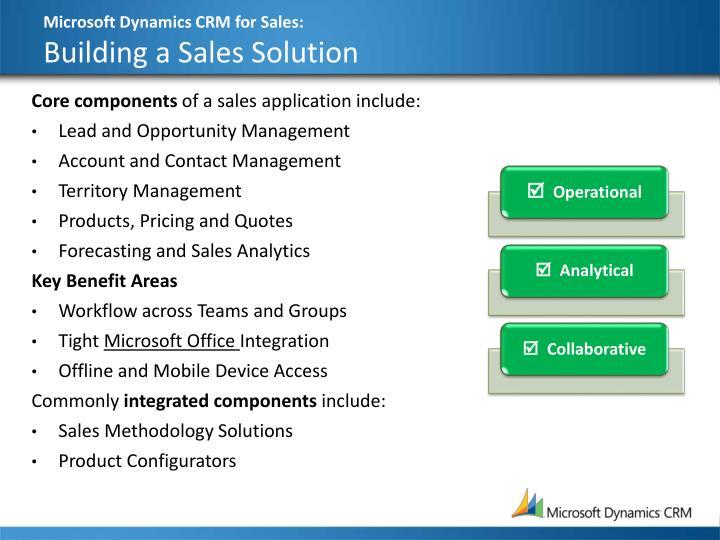 Microsoft Dynamics CRM for Sales: