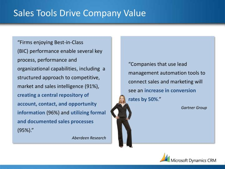 Sales Tools Drive Company Value