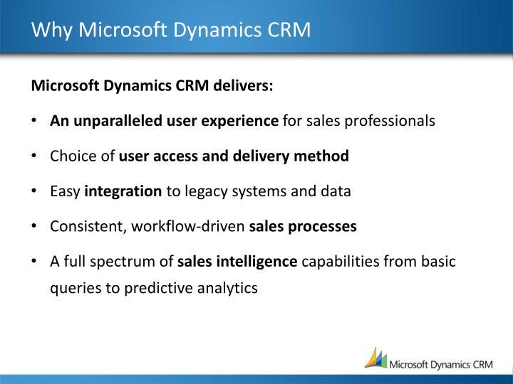 Why Microsoft Dynamics CRM