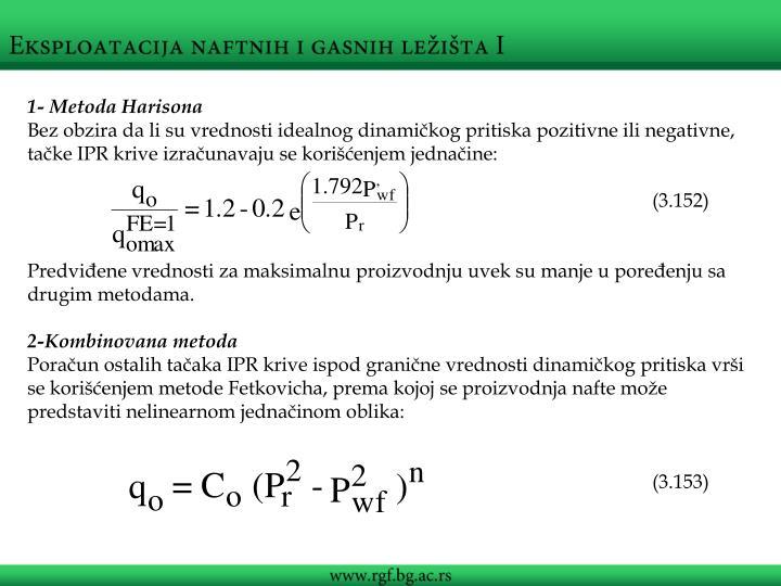 1- Metoda Harisona
