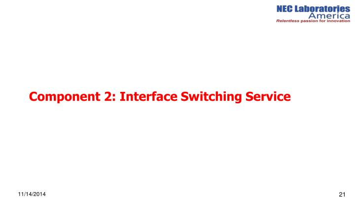 Component 2: Interface Switching Service