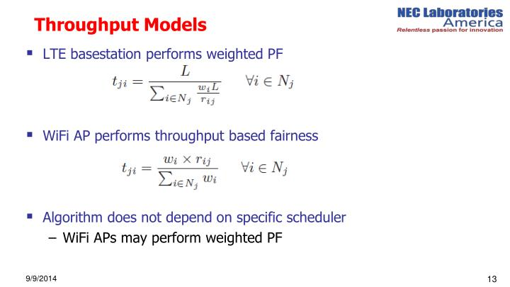 Throughput Models