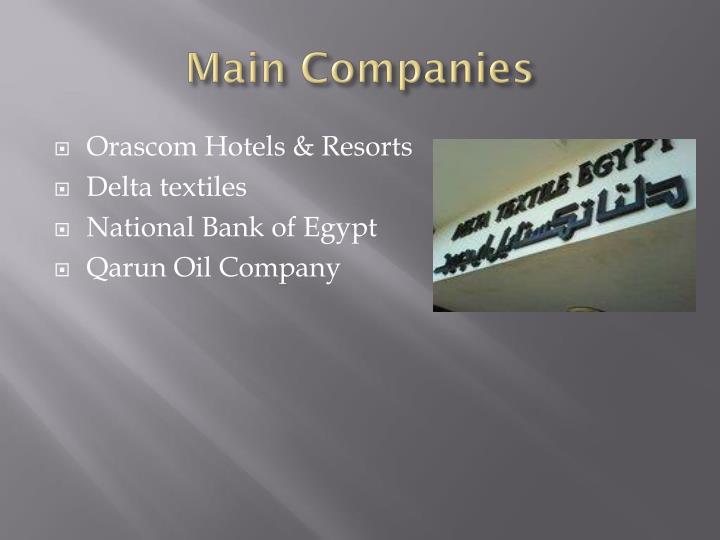 Main Companies