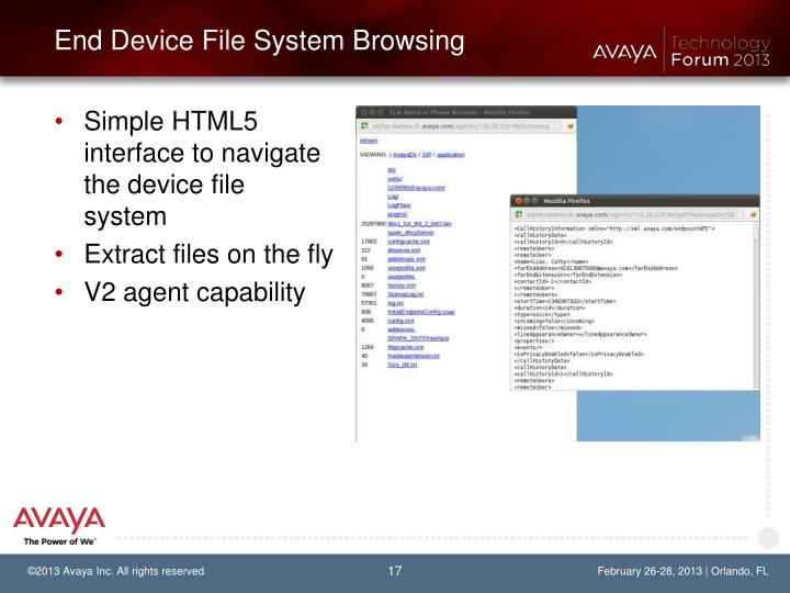 End Device File System Browsing