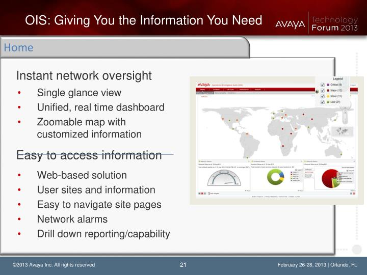 OIS: Giving You the Information You Need