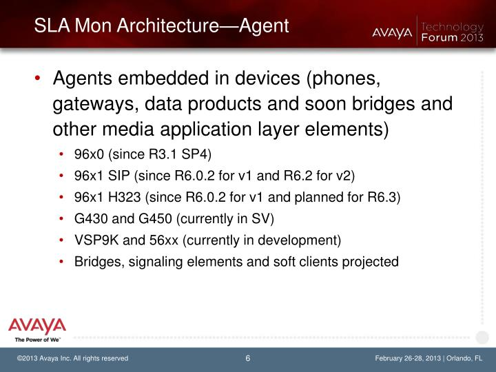 SLA Mon Architecture—Agent