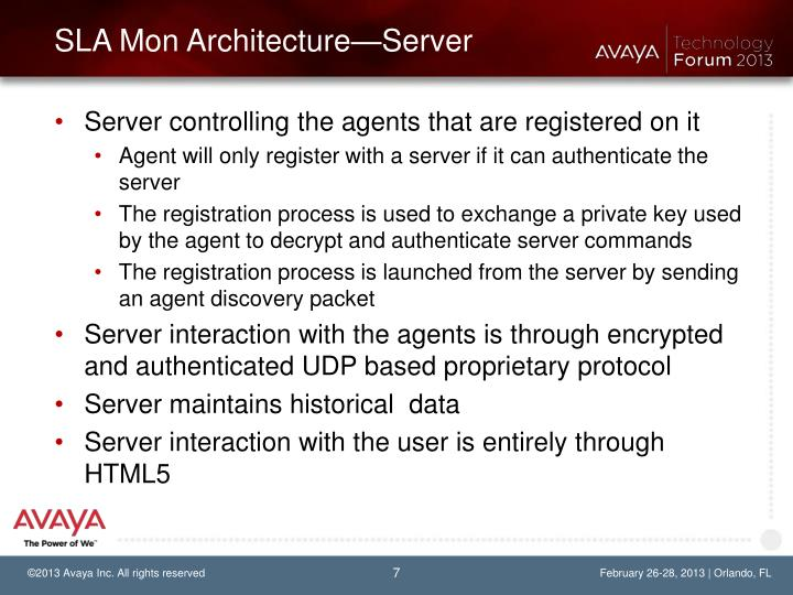 SLA Mon Architecture—Server