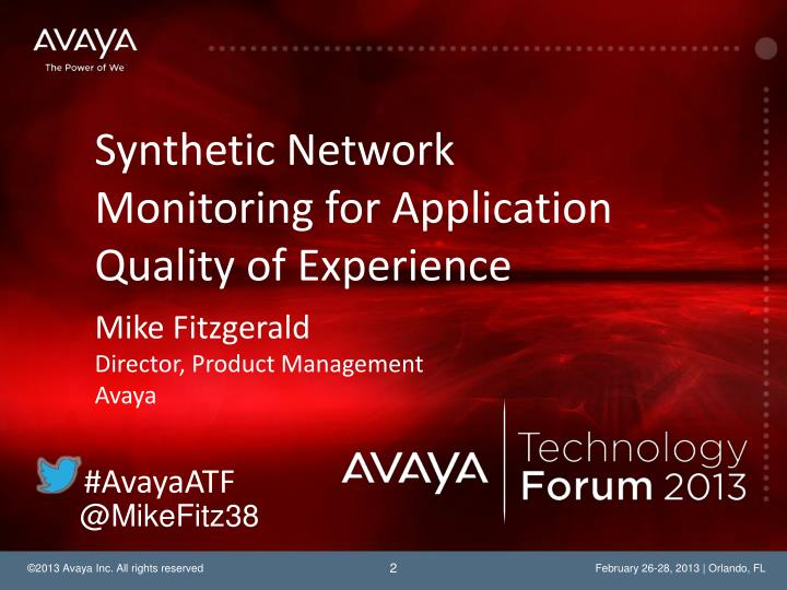 Synthetic Network Monitoring for Application Quality of Experience