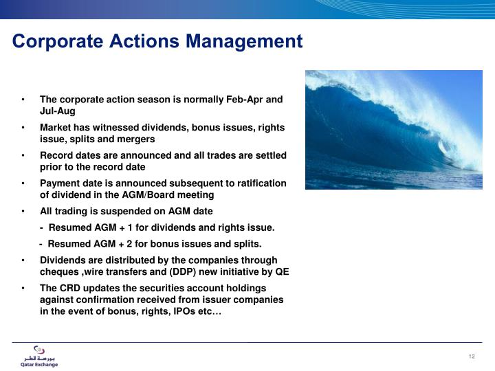 Corporate Actions Management