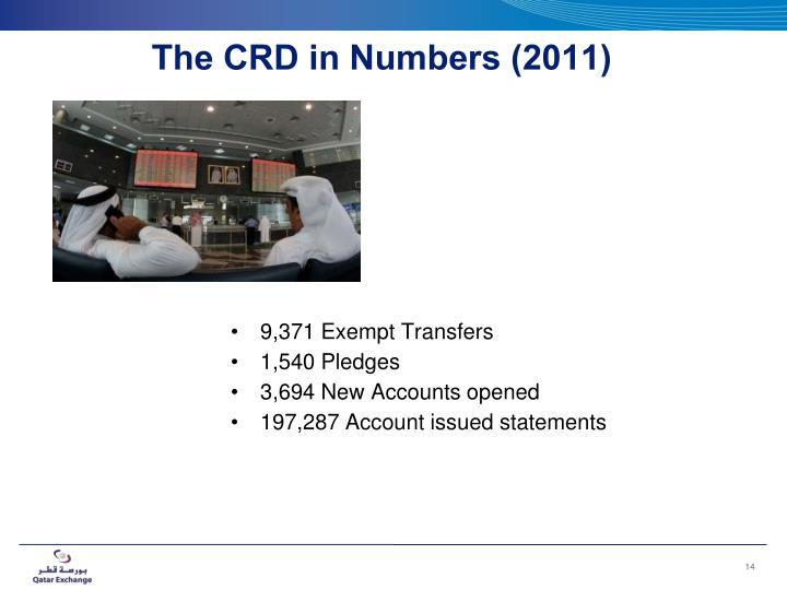 The CRD in Numbers (2011)