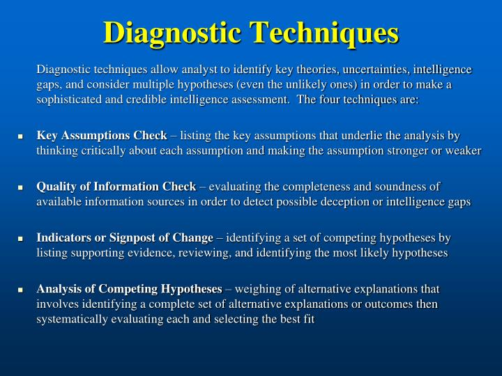 Diagnostic techniques