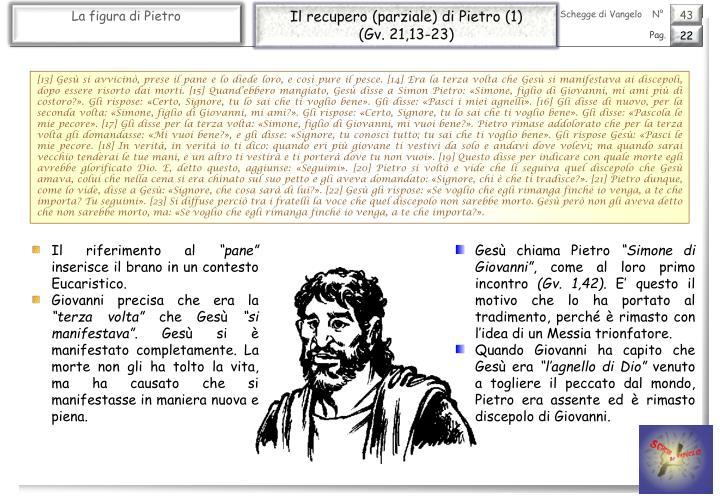 Il recupero (parziale) di Pietro (1)