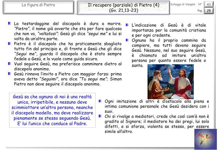 Il recupero (parziale) di Pietro (4)