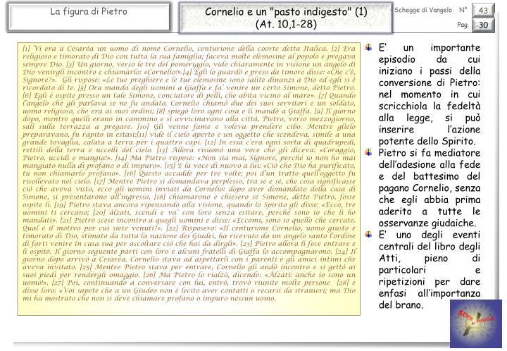 """Cornelio e un """"pasto indigesto"""" (1)"""