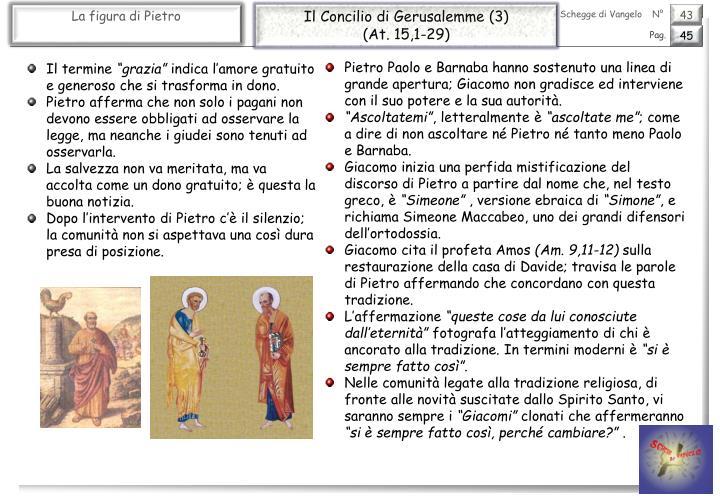 Il Concilio di Gerusalemme (3)