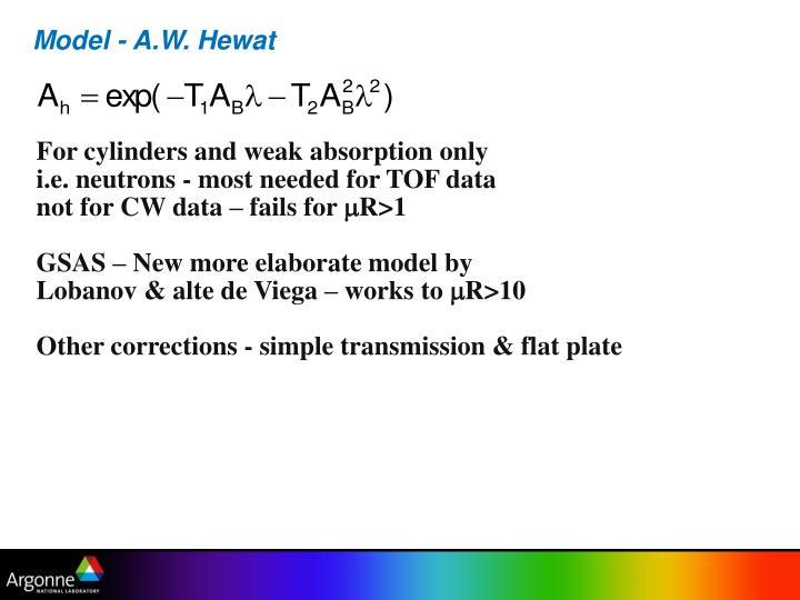 Model - A.W. Hewat