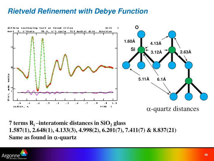 Rietveld Refinement with Debye Function