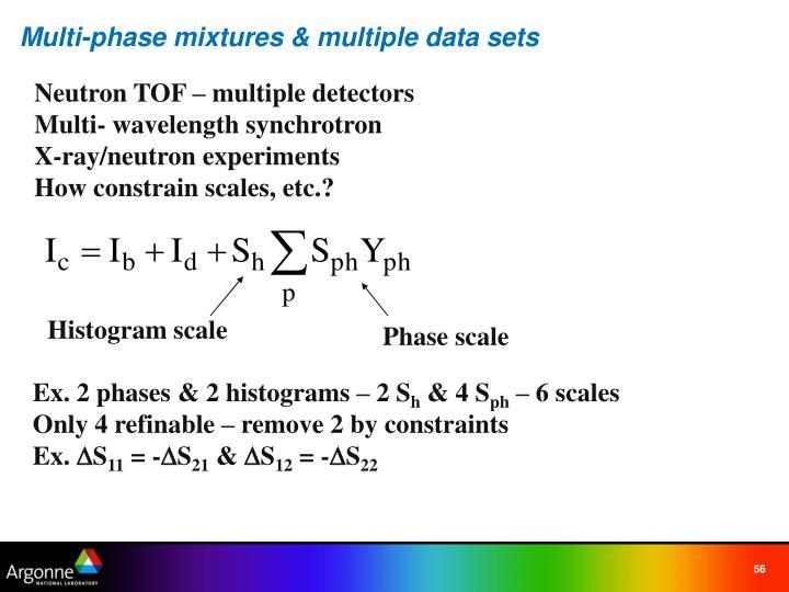 Multi-phase mixtures & multiple data sets