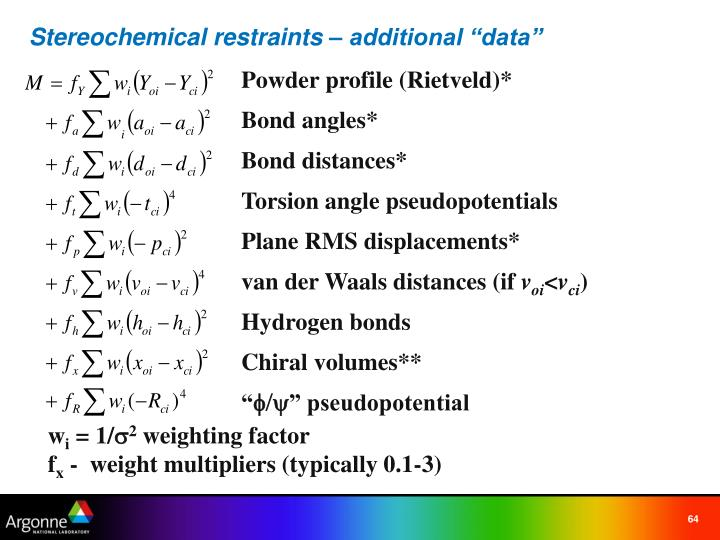 """Stereochemical restraints – additional """"data"""""""