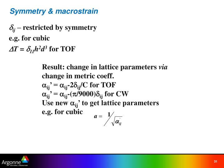 Symmetry & macrostrain