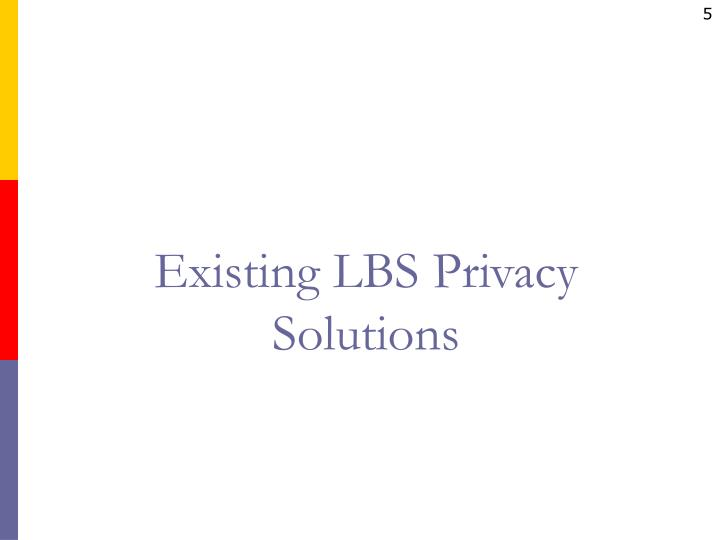 Existing LBS Privacy
