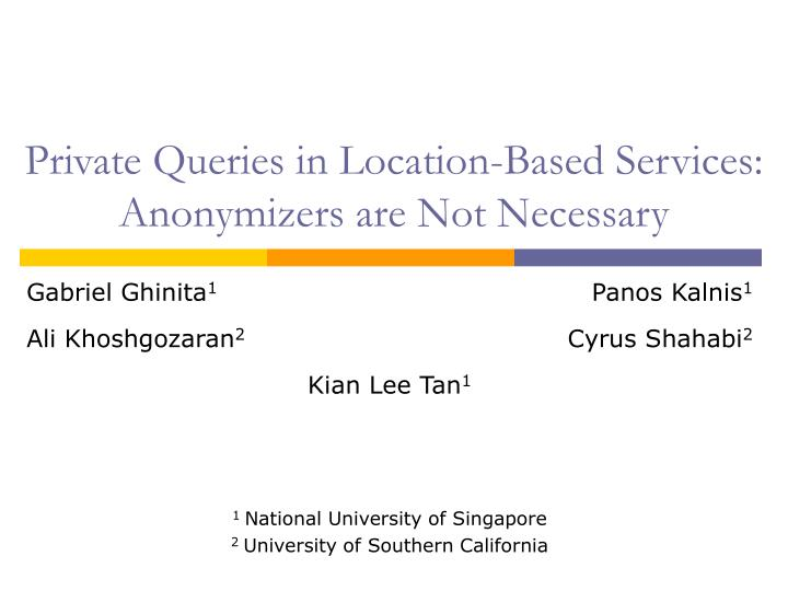 Private Queries in Location-Based Services: